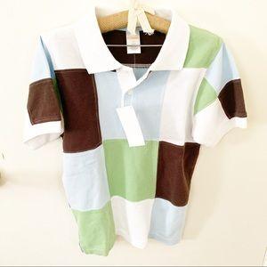 5/$25 Gymboree kids boys patchwork polo shirt 5T